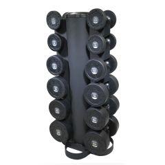 primal strength 6 pair vertical dumbbell rack