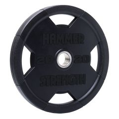 Hammer Strength Rubber Olympic Plate RNDX - 20kg (Single Disc)