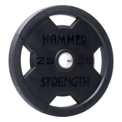 Hammer Strength Rubber Olympic Plate RNDX - 25kg (Single Disc)