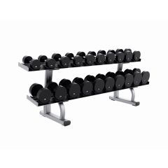 life fitness isgnature series two tier dumbbell rack