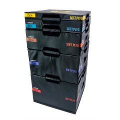 soft plyometric boxes - set of 5