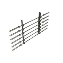 Wall Mounted Olympic Bar Rack - Grey