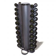 1kg - 10kg Rubber Dumbbell Set & Vertical Rack