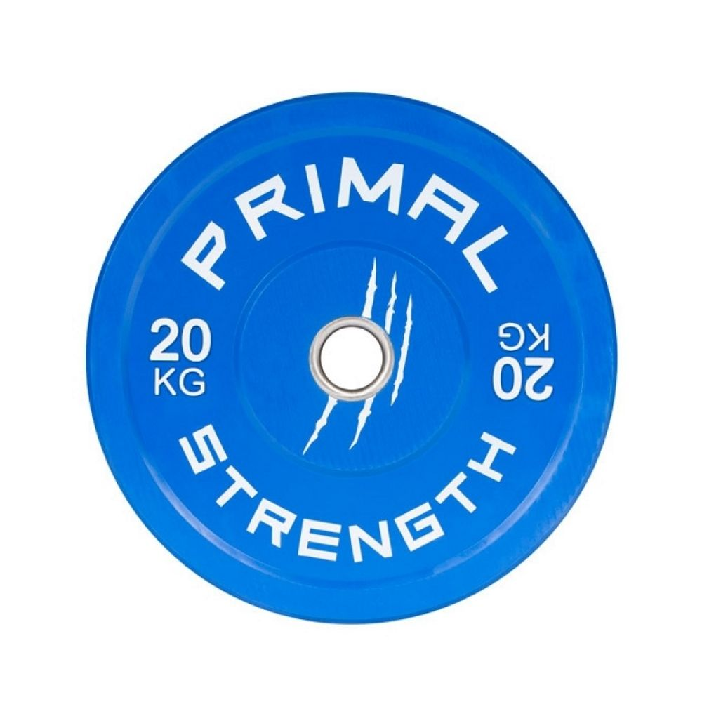 Buy Primal Strength Rebel Colour Bumper Set 100kg: Primal Strength Rubber Colour Bumper Plates