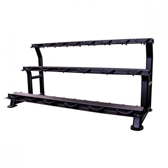 jordan 10 pair 3 tier horizontal dumbbell rack