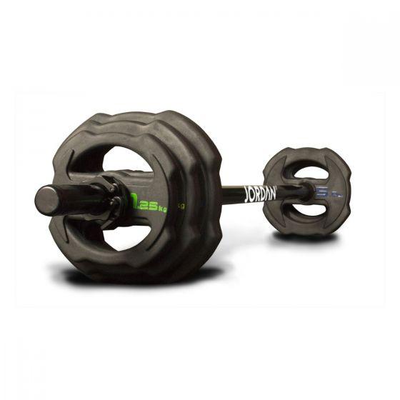 ignite v2 rubber dumbbell bar set