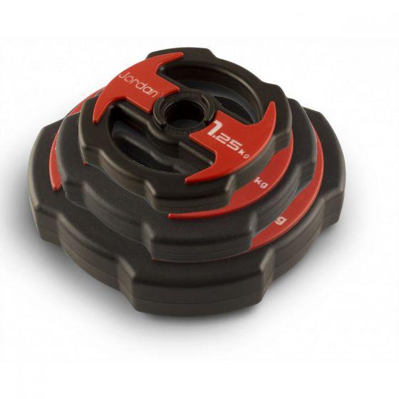 ignite v2 red urethane studio barbell plates