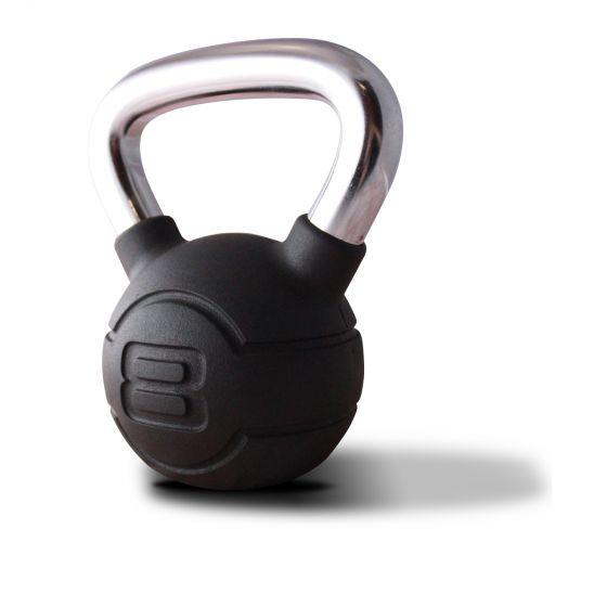 Jordan Black Rubber & Chrome Kettlebells (4kg - 24kg)