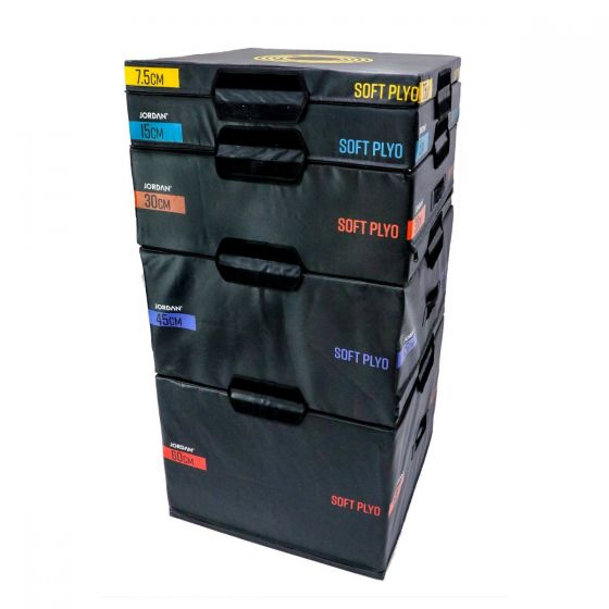 soft plyometric boxes - set of 5