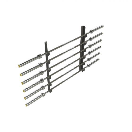 Wall Mounted Olympic Bar Rack - Black