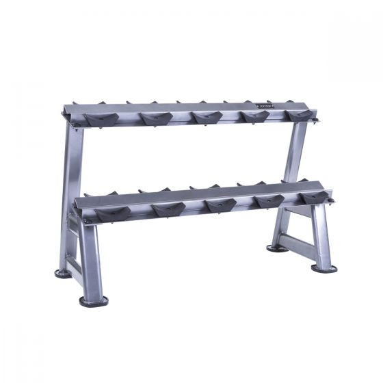 2 tier horizontal dumbbell rack 5 pairs