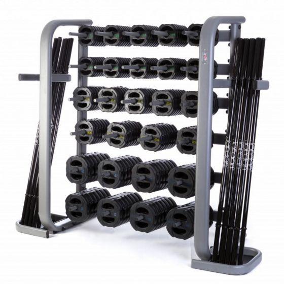 30 x Jordan Ignite V2 Rubber Studio Barbell Sets & Rack