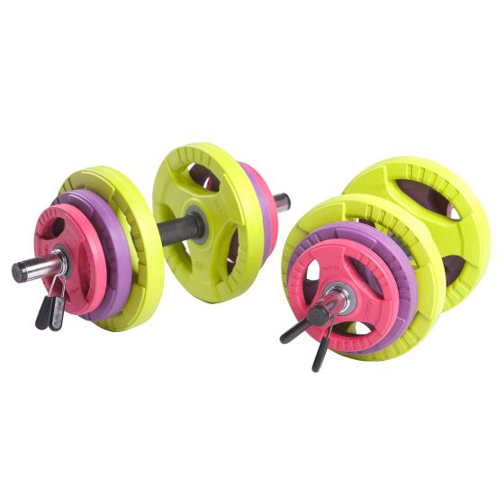 35kg Adjustable Dumbbell Set (Coloured Discs)