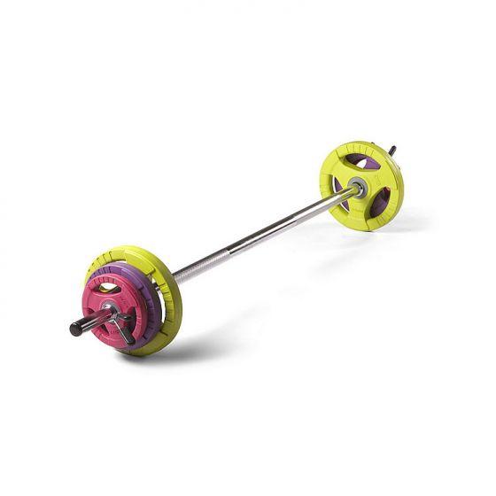 Studio Pump Set (Chrome Bar / Coloured Discs)