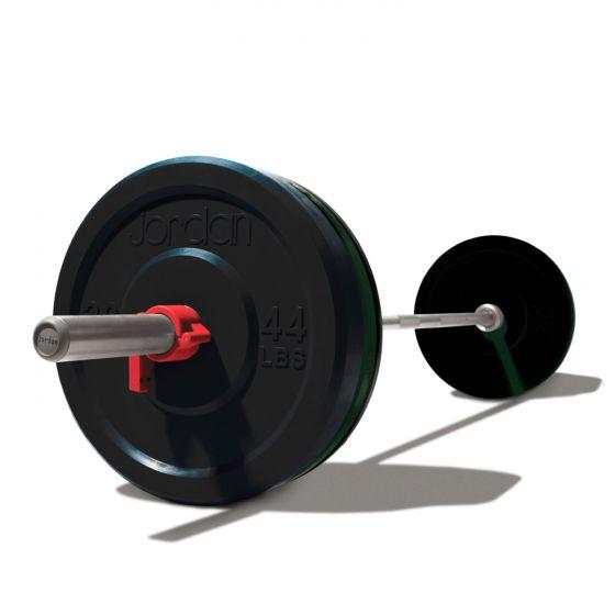 120kg Olympic Training Set (Bumper Plates + 7ft Bar)