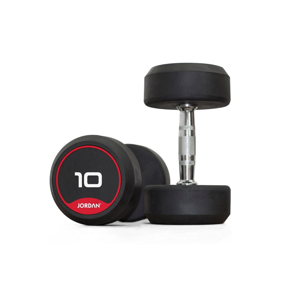 Physical Company 12 Pair Rubber Dumbell and Saddle Rack