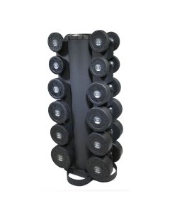 primal strength 6 pair vertical dumbbell rack