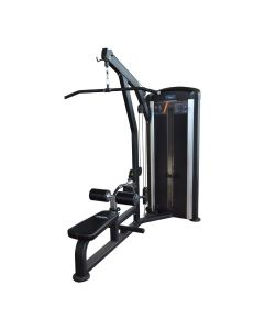 dual lat pulldown and seated row selectorised machine