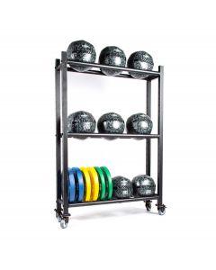 free standing storage rack