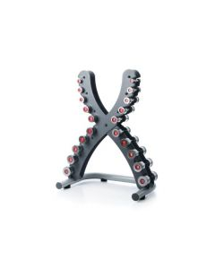 escape classic steel dumbbells and rack