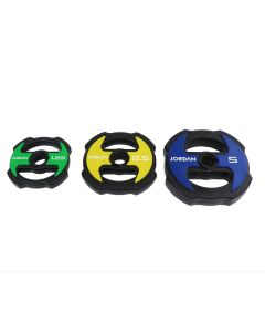 Jordan Ignite V2 Urethane Studio Barbell Plates Colour Coded (1.25kg - 10kg)