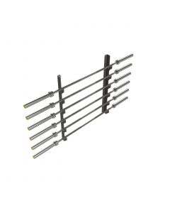 Wall Mounted Olympic Bar Rack - Black