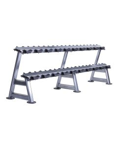2 tier horizontal dumbbell rack