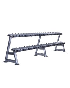 2 tier horizontal dumbbell rack for 12 pairs