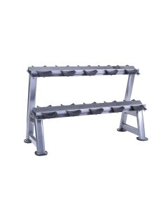 2 tier horizontal dumbbell rack 5 pairs