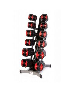 urethane studio barbell red black