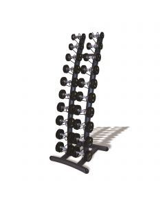 Upright Dumbbell Rack with 10 Pairs PU Dumbbells (1kg-10kg)