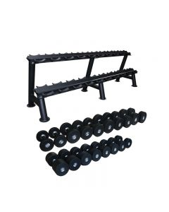 primal strength stealth dumbbell set 2.5-25kg with rack
