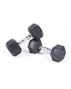 stealth rubber hex dumbbell pairs