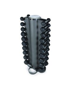 1kg - 25kg Rubber Dumbbell Set & Vertical Rack