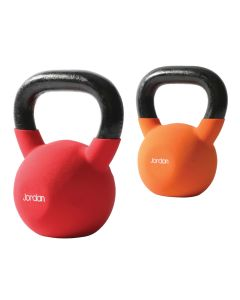 Coloured Neoprene Kettlebell Set (1 x 12kg, 1 x 16kg, 1 x 20kg)