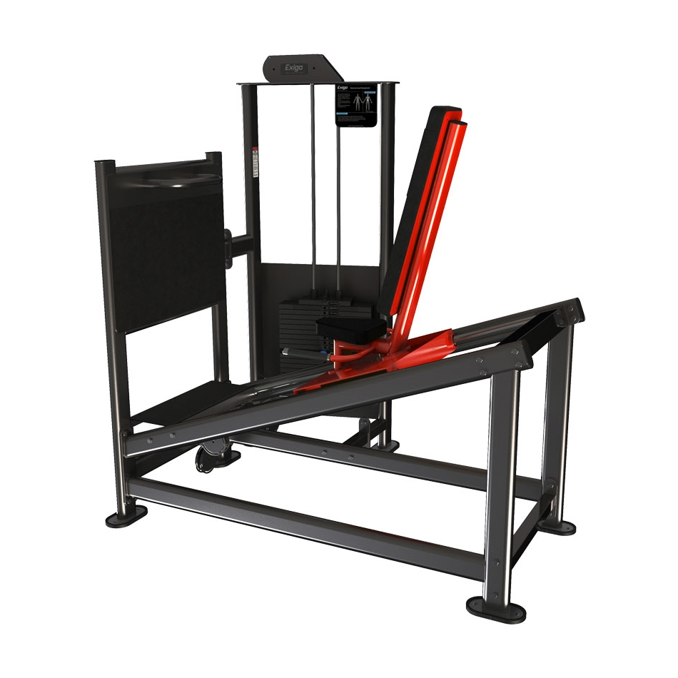 Exigo Seated Leg Press - 150kg Weight Stack