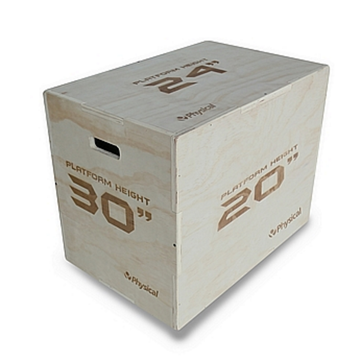 3-in-1 Wooden Plyo Box (Flat Packed)