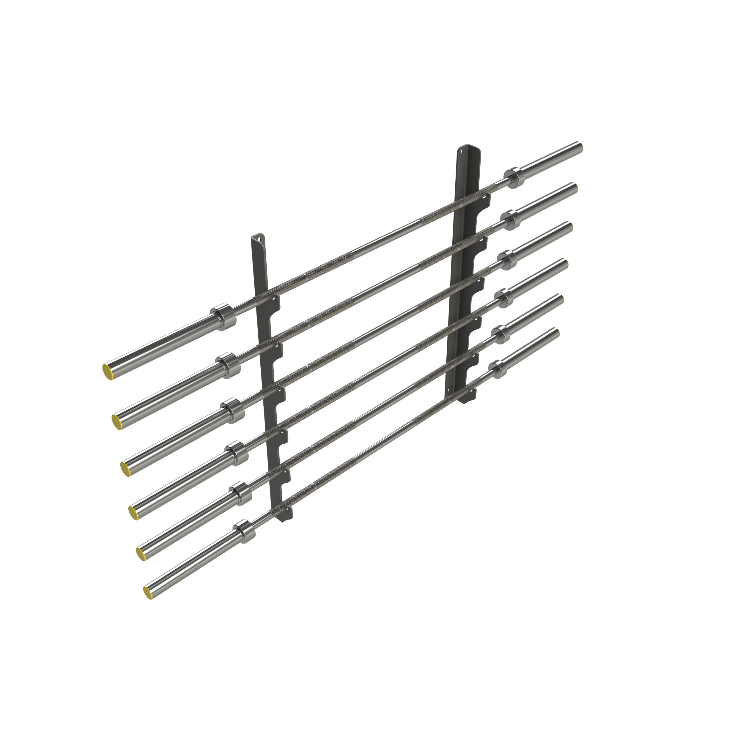 Wall Mounted Olympic Bar Rack - Grey