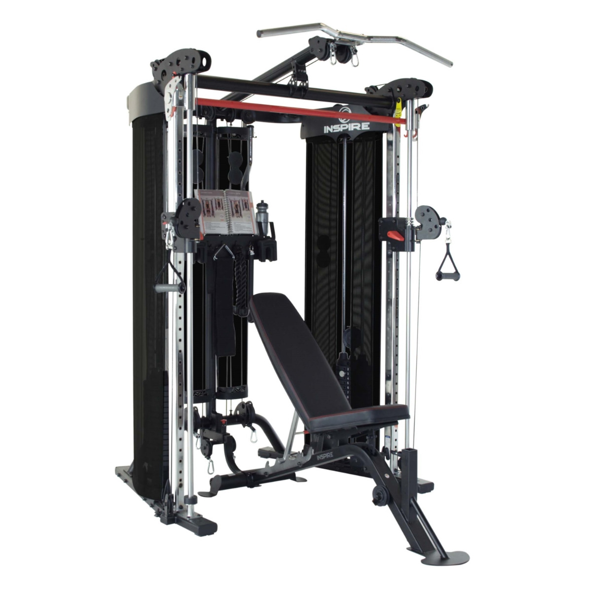 Inspire FT2 Functional Trainer Package (w/ Bench & Leg Curl/Ext. Attach.)