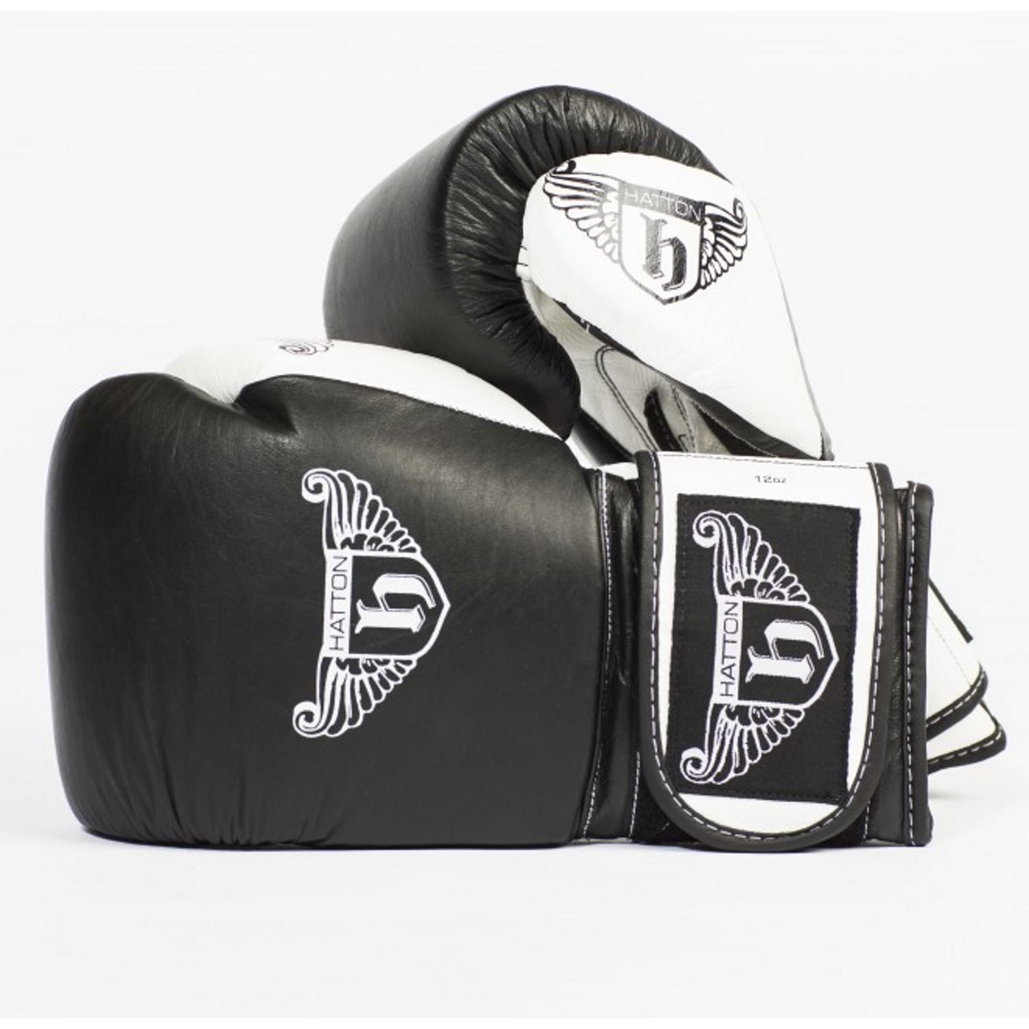 Hatton Pro Sparring Leather Velcro Gloves - 12oz