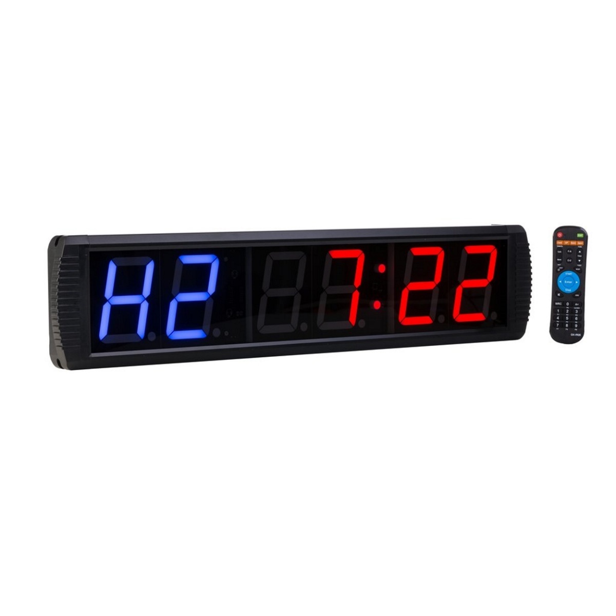 Digital Interval Wall Timer for Gyms, Sports Clubs, Schools & Crossfit (6 Digit)