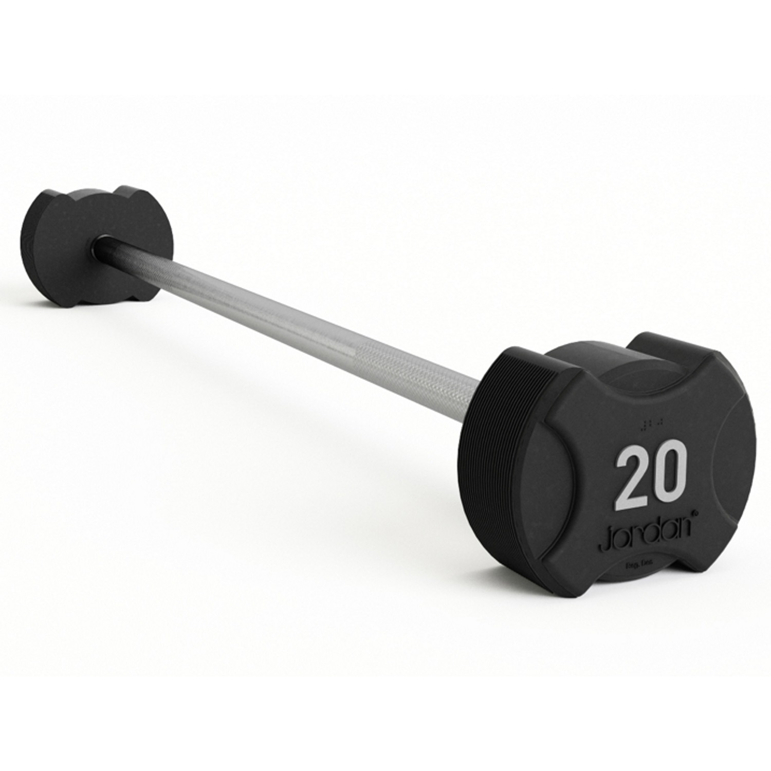 Ignite Premium Rubber Barbells (Straight Bars) 15kg