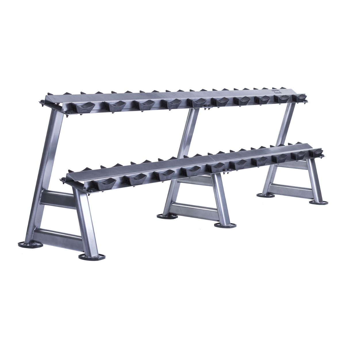 10 Pair Dumbbell Rack with Saddles (2 Tier)