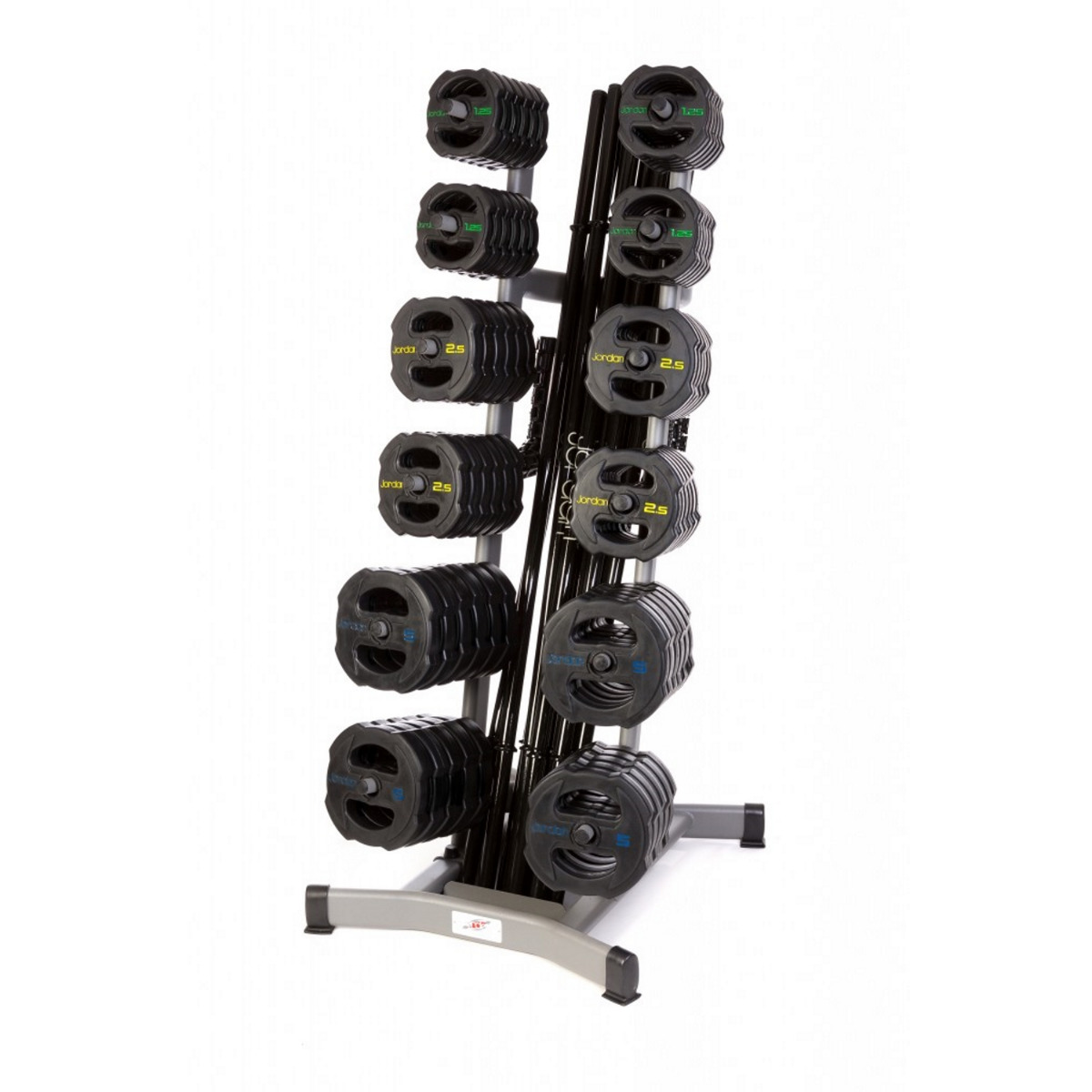 12 x Jordan Ignite V2 Rubber Studio Barbell Sets & Rack