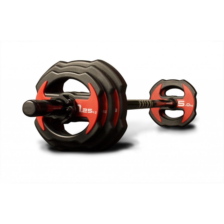 Jordan Ignite V2 Urethane Studio Barbell Set - Red/Black