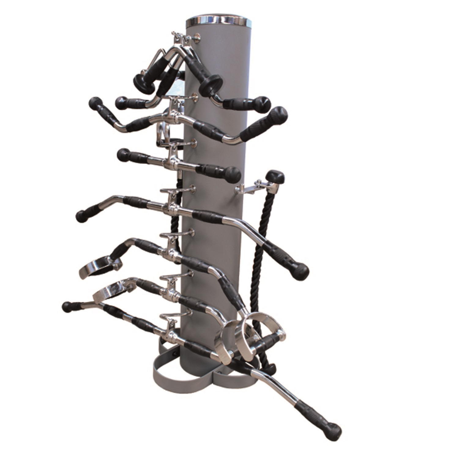 Cable Attachment Rack with 15 Attachments