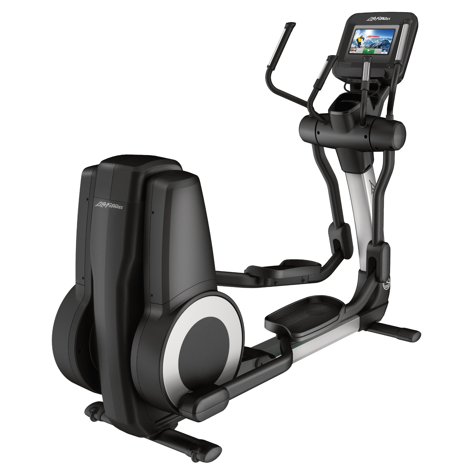 Life Fitness Platinum Club Series Cross Trainer (Discover SI) Arctic