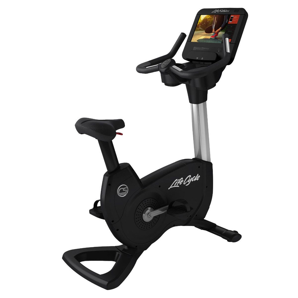 Life Fitness Platinum Club Series Upright Bike Discover SE3 HD (Arctic Silver)