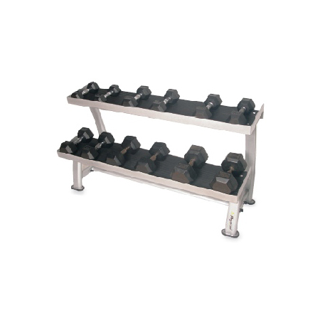 4-25kg Rubber Hex Dumbbell Set & Rack