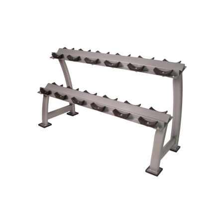 Horizontal Saddle Dumbbell Rack (6 Pairs)